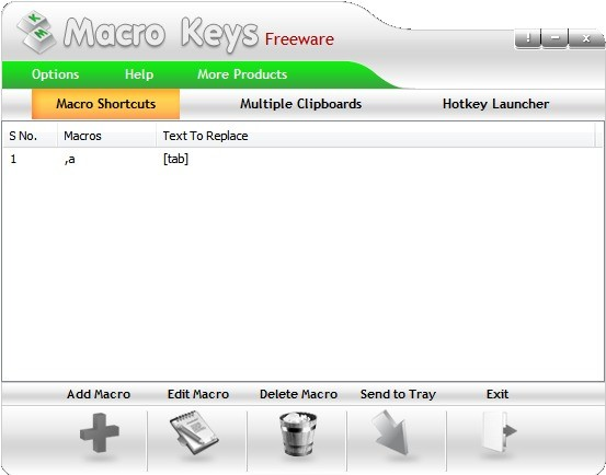 Screenshot 1 - Macro Keys