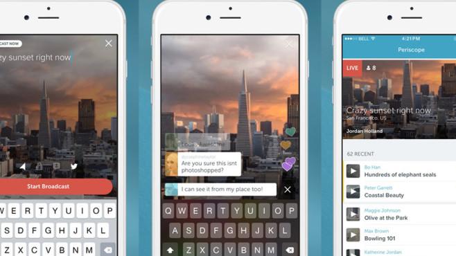 Periscope ©Screenshot Periscope Apple-Store
