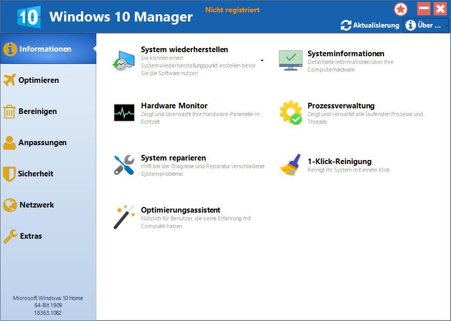 Screenshot 1 - Windows 10 Manager