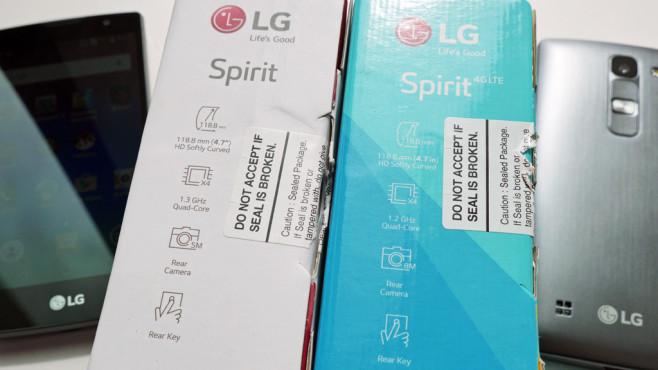 LG Spirit: Warum Sie bei diesem Aldi-Angebot aufpassen sollten Links die Verpackung des LG Spirit, rechts vom .©COMPUTER BILD