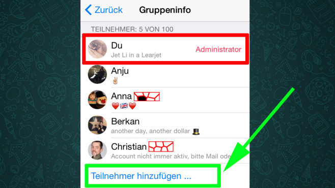 whatsapp gruppen die besten chat funktionen bilder screenshots computer bild. Black Bedroom Furniture Sets. Home Design Ideas