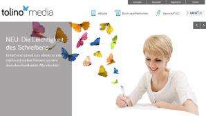 Bunte Schmetterlinge und viel weiß: Das ist die Selfpublishing-Plattform Tolino Media©Screenshot Tolino Media