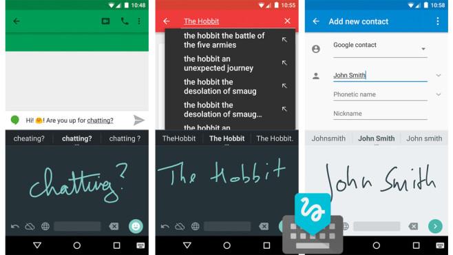 Google Handschrifteingabe ©Google Inc