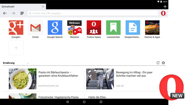 Webbrowser Opera Mini ©Opera Software ASA