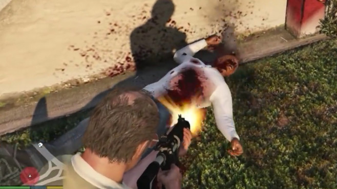 GTA 5: Bloodier blood particle FX & wounds, youtube.com/user/CooljunkGaming © gta5-mods.com by Shaunr
