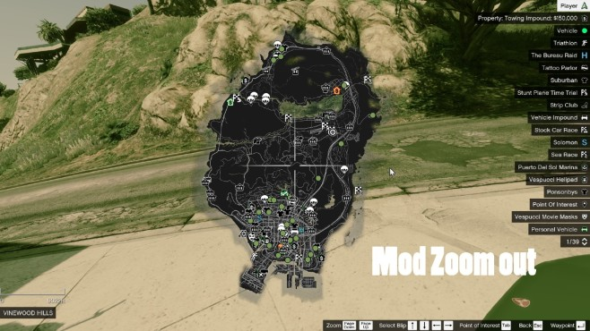 GTA 5: Mega Map Zoom-out © gta5-mods.com by fortinwithwill