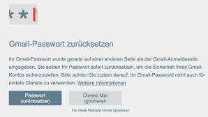 Google Passwort-Warnung©Google