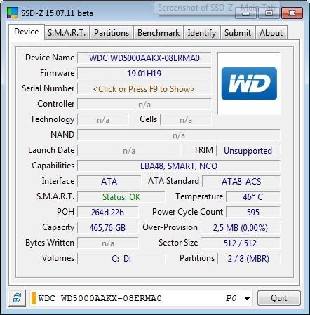 Screenshot 1 - SSD-Z
