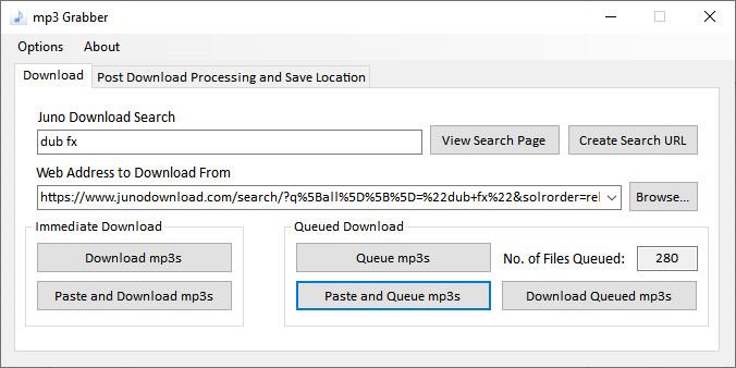 Screenshot 1 - MP3 Grabber