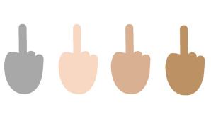 Mittelfinger-Emoji in Windows 10©emojipedia.org