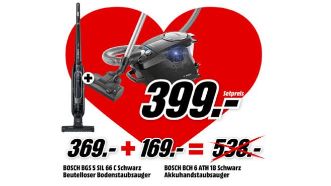 Bosch BGS5SIL66C + Bosch BCH6ATH18 ©Media Markt