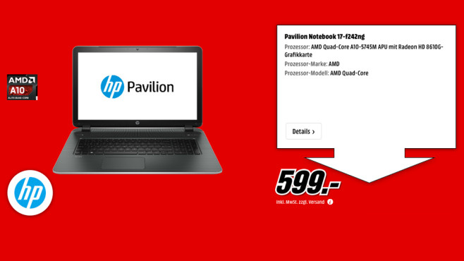 HP Pavilion 17-f242ng ©Media Markt