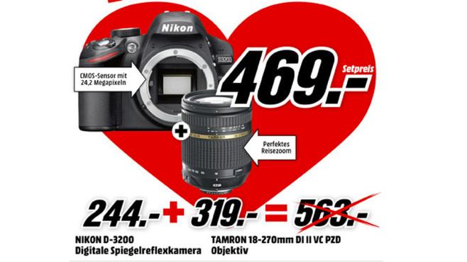 Nikon D3200 + Tamron AF 18-270mm ©Media Markt