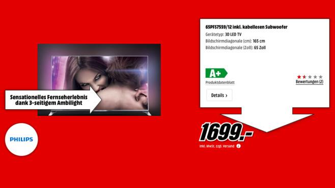 Philips 65PFS7559 ©Media Markt