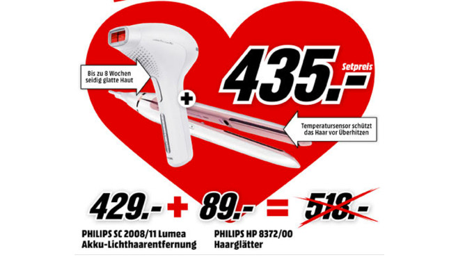 Philips SC2008/11 + Philips HP8372/00 ©Media Markt