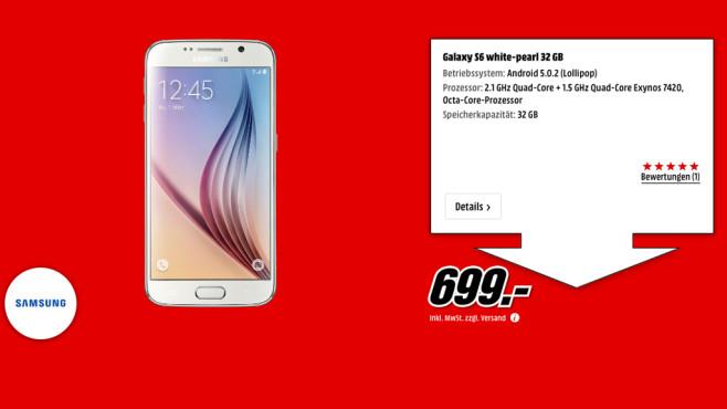 Samsung Galaxy S6 32GB ©Media Markt