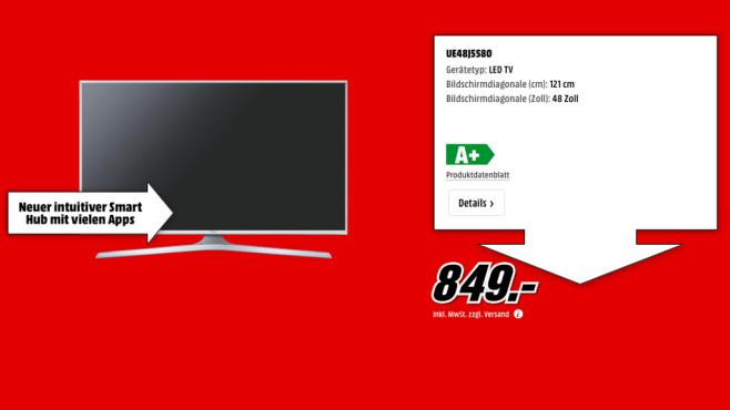 Samsung UE48J5580 ©Media Markt