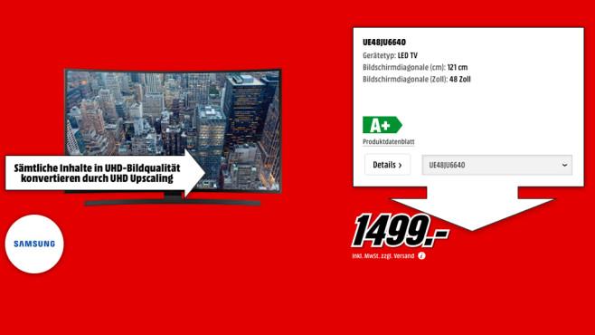 Samsung UE48JU6640 ©Media Markt