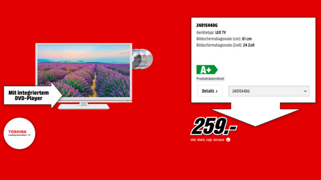Toshiba 24D1544DG ©Media Markt
