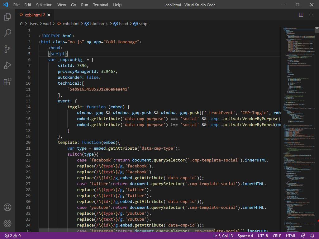 Screenshot 1 - Microsoft Visual Studio Code (VSCode)