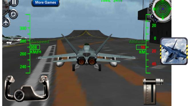 F 18 Kampfjet Simulator 3D ©VascoGames