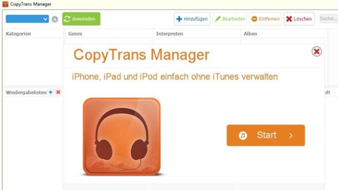 CopyTrans Manager & Syncios: Daten zu iOS-Hardware schaufeln ©COMPUTER BILD