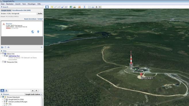Google Earth Pro – Kostenlose Vollversion: Reisen vorab planen ©COMPUTER BILD