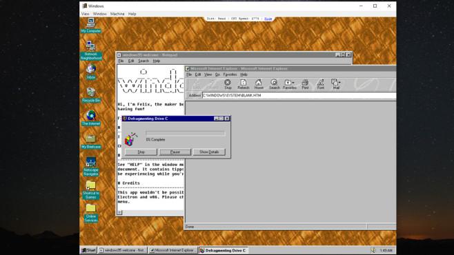 Windows 95 als App: Betriebssystem von früher simulieren ©COMPUTER BILD