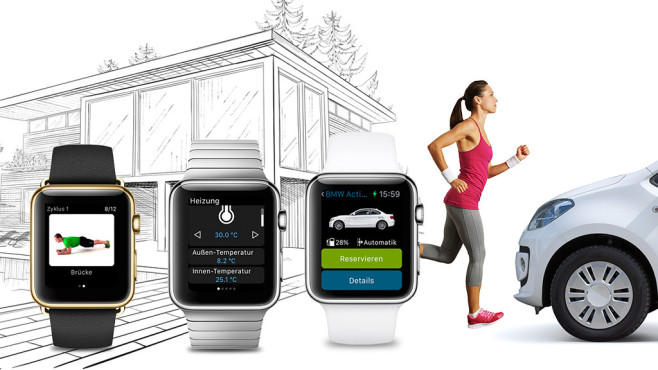 apple watch apps f r sport auto computer bild. Black Bedroom Furniture Sets. Home Design Ideas