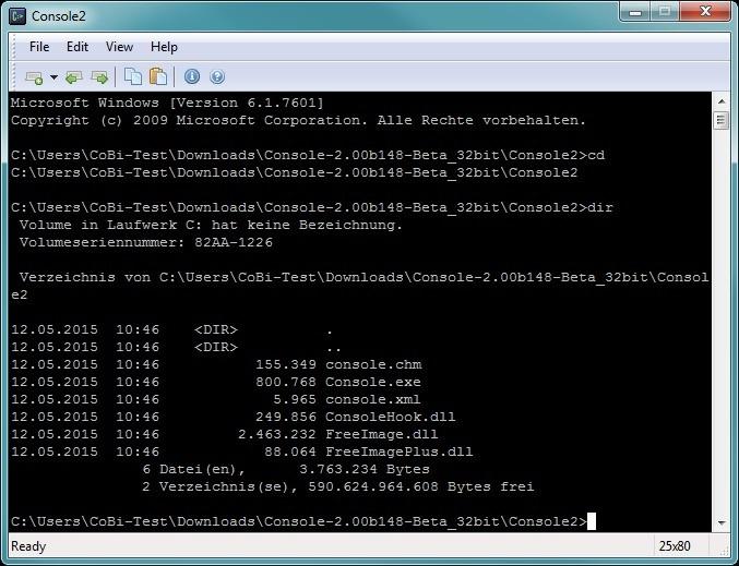 Screenshot 1 - Console