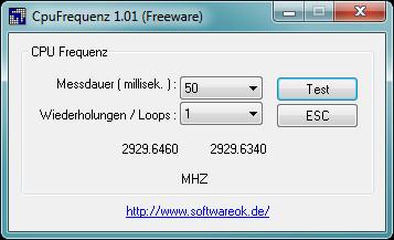 Screenshot 1 - CPU-Frequenz