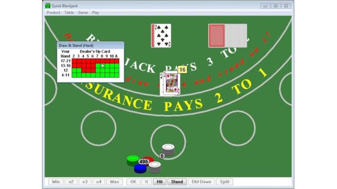 Quick Blackjack Portable ©COMPUTER BILD