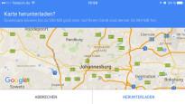 Offline Navigation iPhone Android Windows Phone©Google