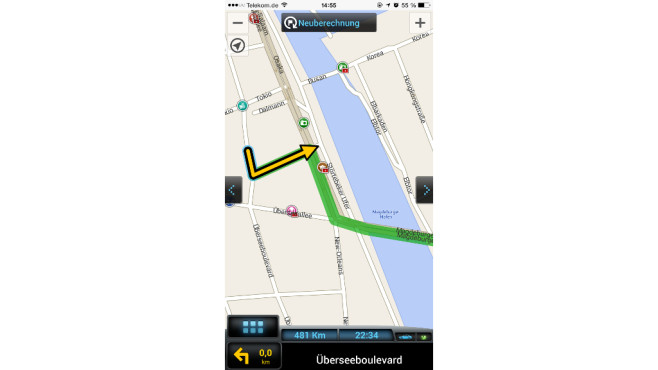 Offline Navigation iPhone Android Windows Phone ©Sygic