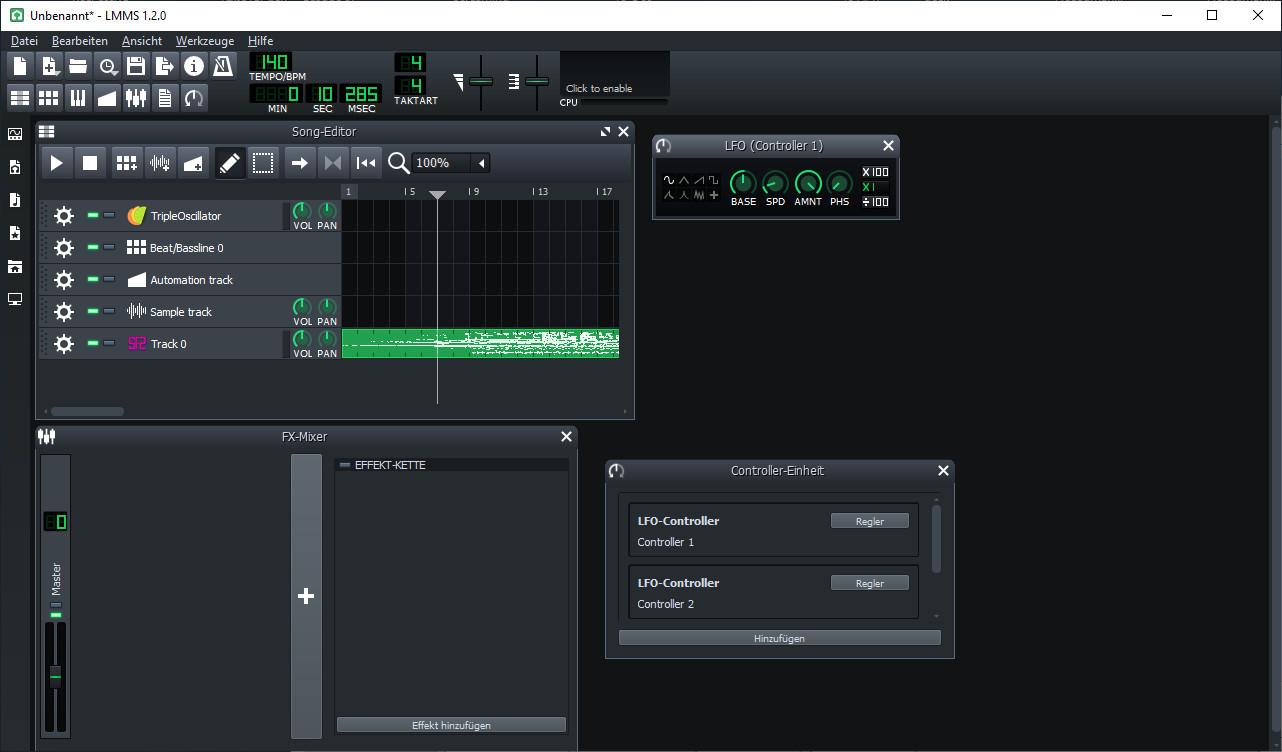 Screenshot 1 - LMMS (Linux MultiMedia Studio) Portable