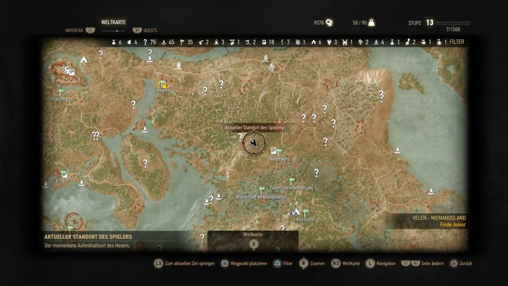 The Witcher Karte.The Witcher 3 Orte Der Macht Velen Bilder Screenshots