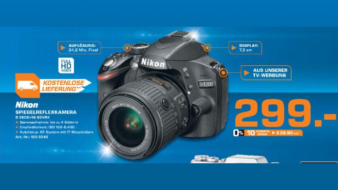 Nikon D3200 Kit 18-55 mm Nikon G VR II ©Saturn
