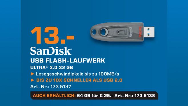 Sandisk Ultra USB 3.0 32GB ©Saturn
