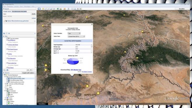 Platz 10: Google Earth Pro – Kostenlose Vollversion (Vormonat: Platz 6) ©COMPUTER BILD