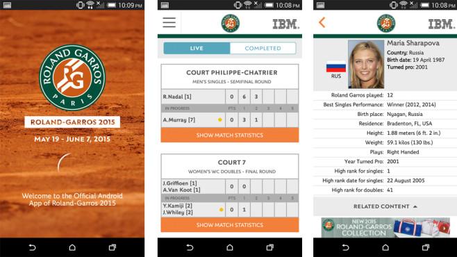 The Official Roland-Garros 2015 ©Fédération Française de Tennis