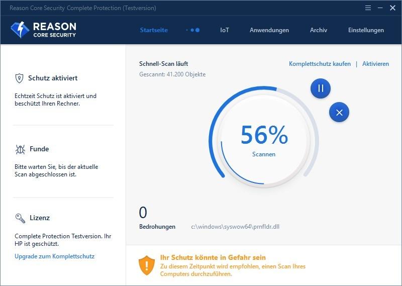 Screenshot 1 - Reason Core Security
