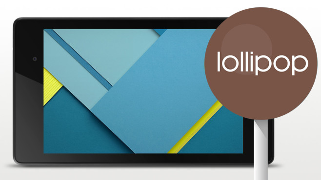 Nexus 7 mit Lollipop©Google