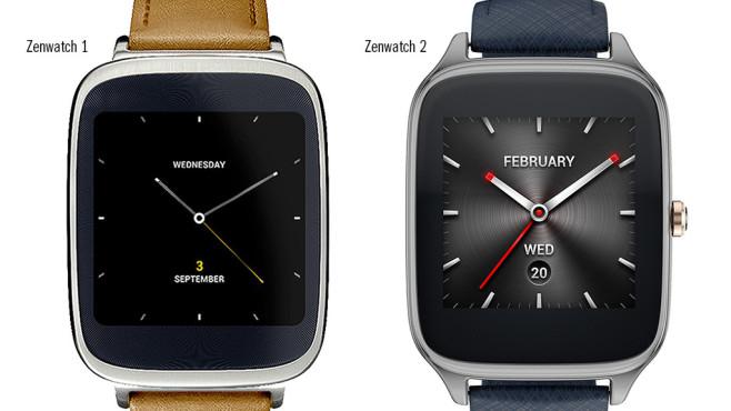 Zenwatch 1 und 2 im Designvergleich©Asus (Montage: COMPUTER BILD)