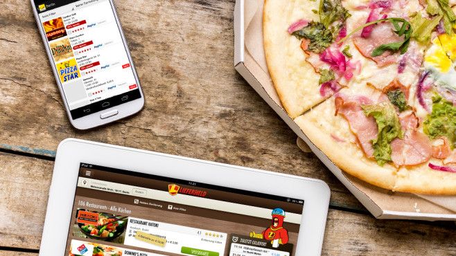 Essen per App im Test©skumer – Fotolia.com, Lieferheld, Pizza.de