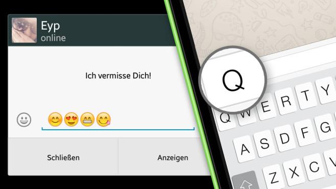 Quick Reply für WhatsApp©WhatsApp, COMPUTER BILD