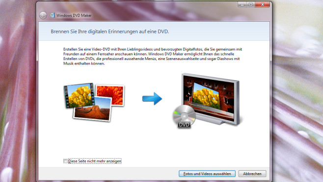Windows DVD Maker © COMPUTER BILD