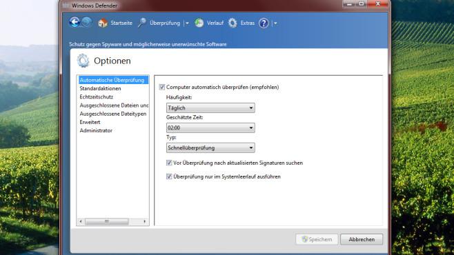 Windows Defender: Einheitliches Einstellmenü ©COMPUTER BILD