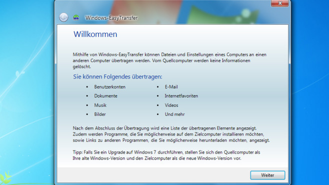 Windows-EasyTransfer © COMPUTER BILD