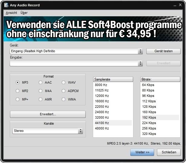 Screenshot 1 - Any Audio Record
