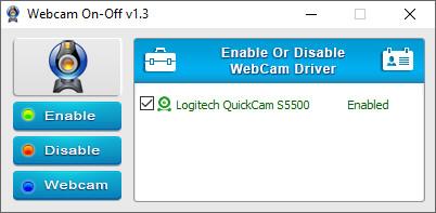 Screenshot 1 - Webcam On-Off